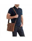 Фотография Сумка мужская на плечо коричневого цвета Bx9040R