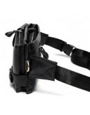 Фотография Черная мужская сумка на пояс кожаная Bx9080A