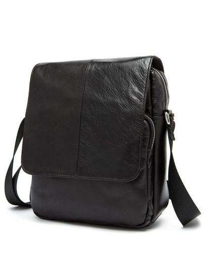 Фотография Темно коричневая мужская плечевая сумка Bx9108C