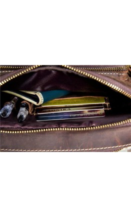 Мужская кожаная мужская сумка на плечо Bx9349