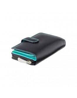 Кожаный женский кошелек Visconti CD22 Ruby (Black Aqua)