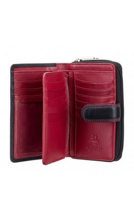 Женский кожаный кошелек Visconti CD22 Ruby (Black Red)