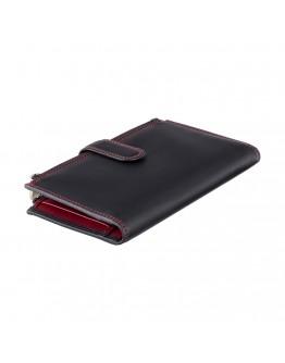 Женский кошелек Visconti CD23 Jade (Black Red)