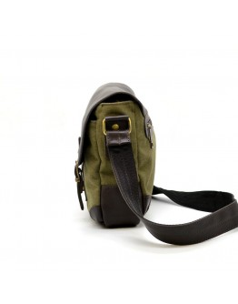 Мужская кожано-тканевая сумка через плечо Tarwa CH-6002-3md