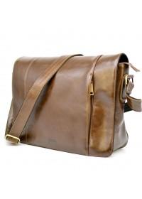 Коричневая мужская кожаная горизонтальная сумка Tarwa CQ-7338-3md