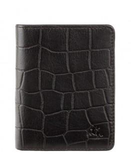 Черный кожаный кошелек Visconti CR91 Caiman c RFID (Black)