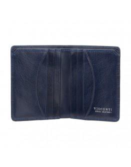 Синий кожаный кошелек Visconti CR91 Caiman c RFID (Blue)