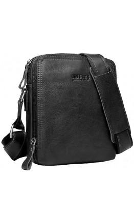 Черная кожаная сумка на плечо CS0202