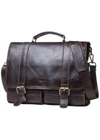 Мужская кожаная коричневая деловая сумка CS3030
