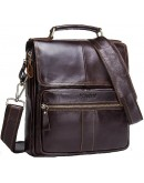 Фотография Кожаная коричневая мужская сумка с клапаном CS3040