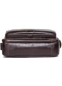 Кожаная коричневая мужская сумка с клапаном CS3040