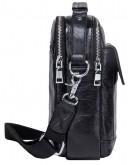 Фотография Черная мужская кожаная сумка - барсетка CS3081