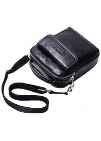 Черная мужская кожаная сумка - барсетка CS3081