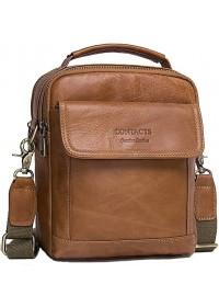 Светло-коричневая мужская сумка - барсетка CS3082