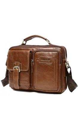 Мужская удобная коричневая сумка CX2080