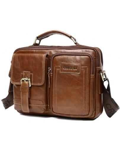 Фотография Мужская удобная коричневая сумка CX2080