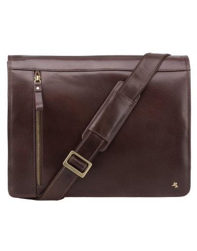 Фотография Добротная сумка на плечо коричневая Visconti ML23 Carter (brown)