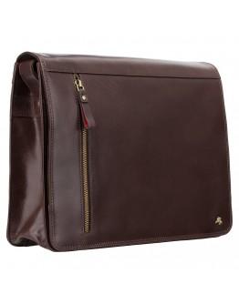 Добротная сумка на плечо коричневая Visconti ML23 Carter (brown)
