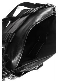 Кожаная черная мужская большая сумка для ручной клади DB09A