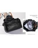 Фотография Кожаная черная мужская большая сумка для ручной клади DB09A