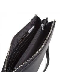 Кожаный мужской клатч черный Petek DCM-8213A