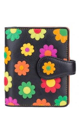 Кожаный женский кошелек Visconti DS80 Sunshine (Black Pace)