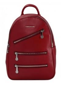 Красный кожаный женский рюкзак FORSTMANN F-P117R