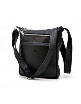 Мужская кожаная черная сумка на плечо Tarwa FA-1300-3md