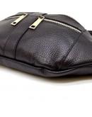 Фотография Кожаная черная сумка на пояс - бананка Tarwa FA-3088-4lx