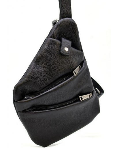 Фотография Черная мужская кожаная сумка на плечо Tarwa FA-6402-3md