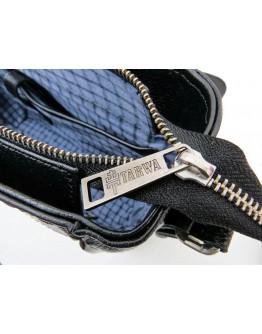 Большая черная сумка на плечо из натуральной кожи Tarwa FA-7338-4lx