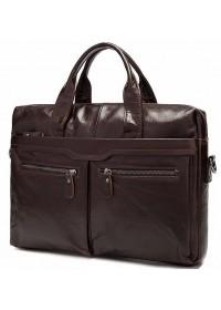Темно-коричневая мужская сумка из натуральной кожи FR0019