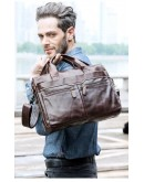 Фотография Темно-коричневая мужская сумка из натуральной кожи FR0019