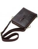 Фотография Кожаная сумка планшетка с тиснением под крокодила FR3150