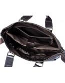 Фотография Коричневая городская кожаная мужская сумка FR3200