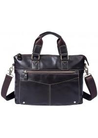 Коричневая городская кожаная мужская сумка FR3200