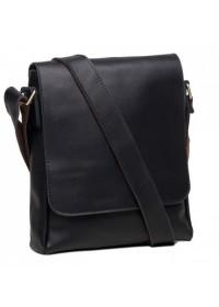Черная кожаная сумка мужская классическая G1157AN