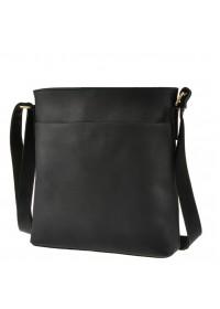 Черная кожаная сумка на плечо без клапана G1166
