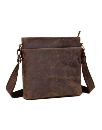 Фотография Мужская коричневая винтажная сумка G1166DB