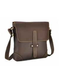 Коричневая сумка мужская через плечо G1177B