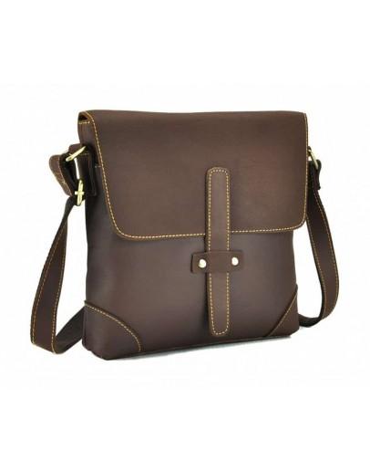 Фотография Коричневая сумка мужская через плечо G1177B