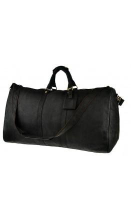 Дорожная серая мужская кожаная сумка G3264
