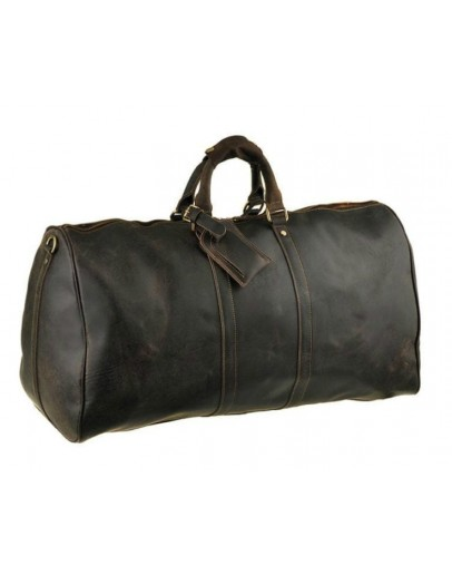 Фотография Дорожная кожаная коричневая мужская сумка G3264B