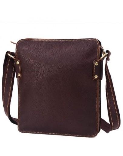 Фотография Коричневая сумка на плечо, мужская кожаная G8856DB