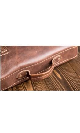 Коричневый кожаный мужской портфель G8870B