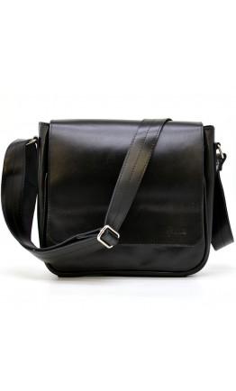 Черная кожаная мужская сумка через плечо Tarwa GA-0002-3md