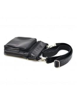 Небольшая мужская кожаная черная сумка Tarwa GA-1342-4lx
