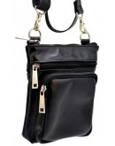 Фотография Небольшая мужская кожаная черная сумка Tarwa GA-1342-4lx