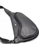 Фотография Кожаный рюкзак на одно плече черного цвета Tarwa GA-3026-3md