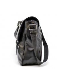 Черная удобная вместительная кожаная сумка на плечо Tarwa GA-7022-3md